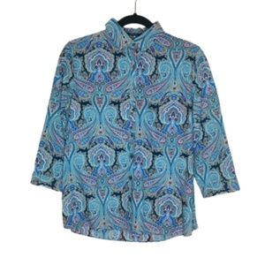 Lands' End | Paisley Button Up Shirt NWOT